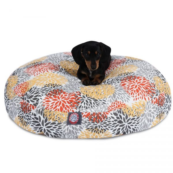 Marvelous Blooms Round Dog Bed Squirreltailoven Fun Painted Chair Ideas Images Squirreltailovenorg